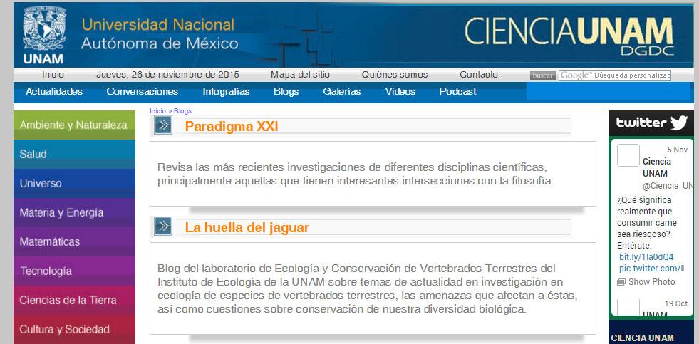 temático ciencia unam disponible en http ciencia unam mx blogs