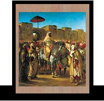 El sultán de Marruecos, Eugene Delacroix, 1845