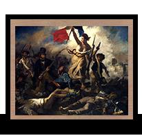La libertad guiando al pueblo, Eugene Delacroix, 1830