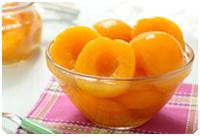 frutos en almíbar