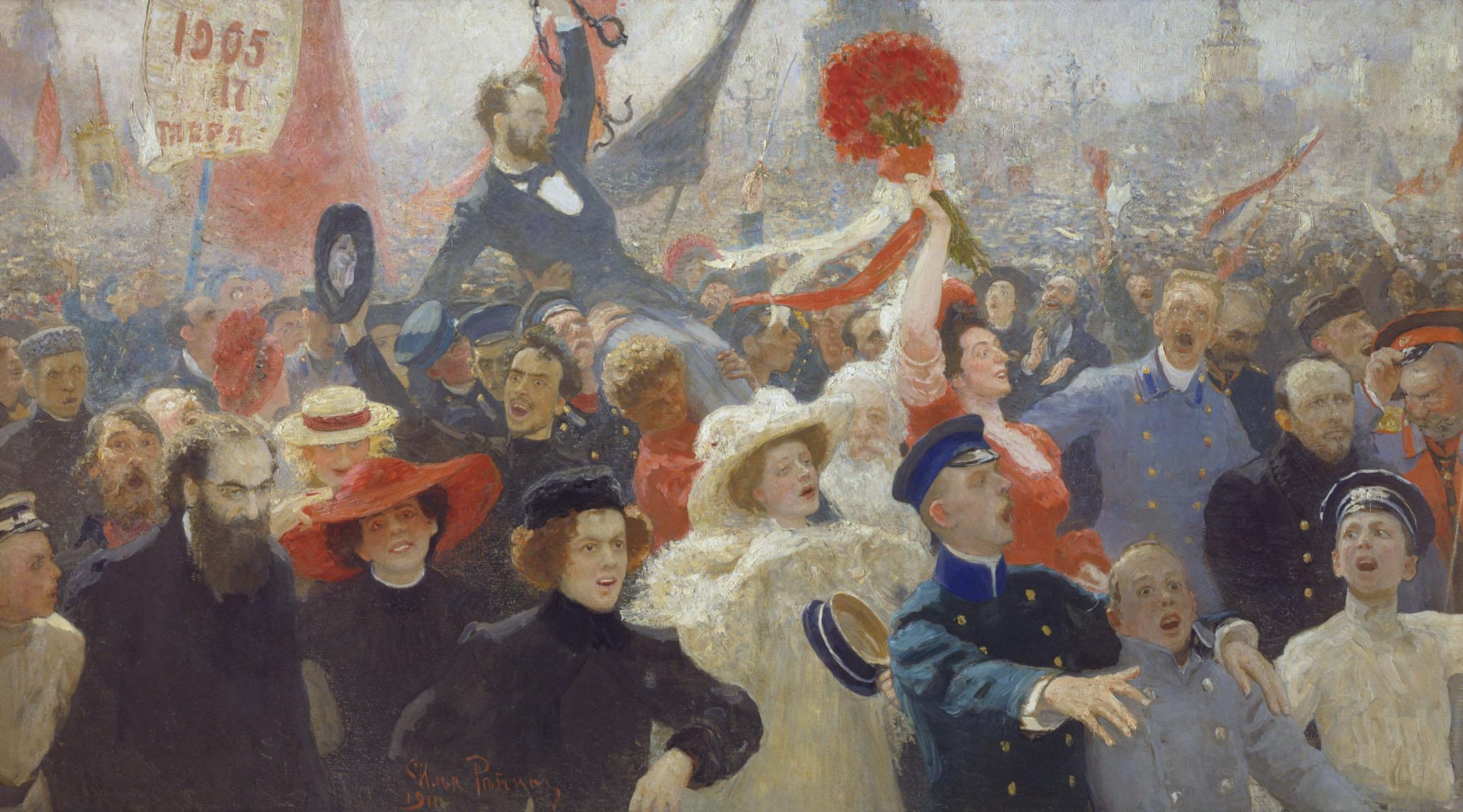 La manifestación del 17 de octubre de 1905, Ilya Repin