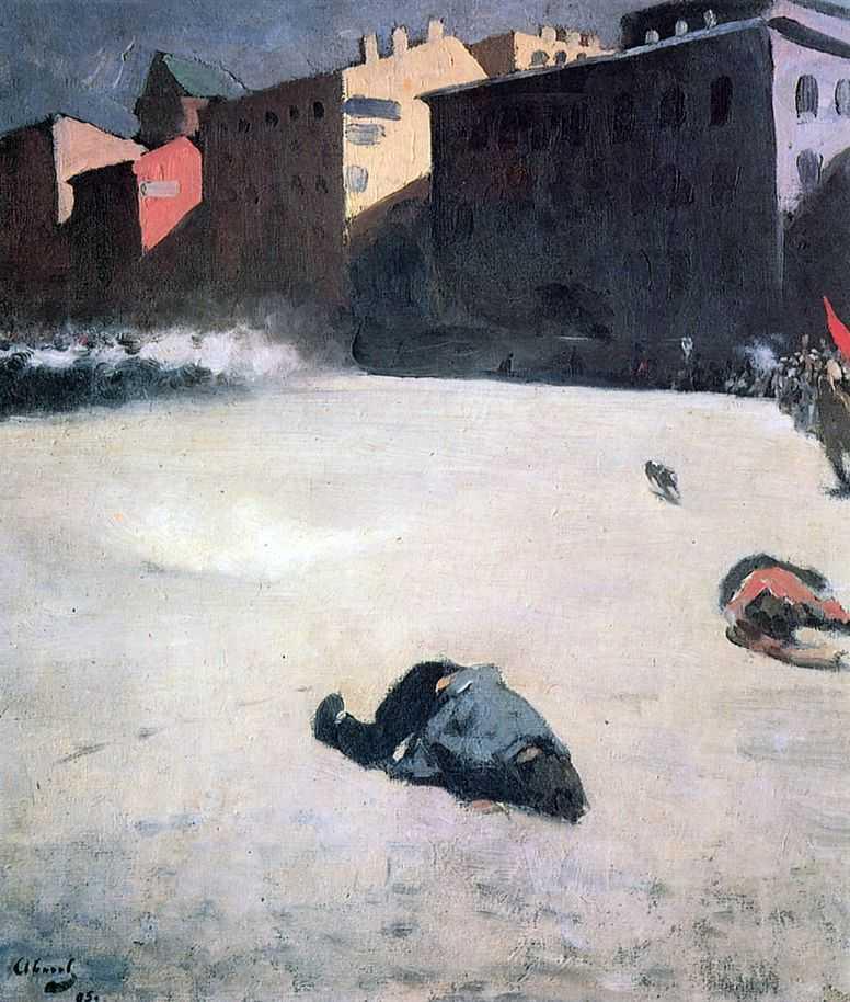 El tiroteo, Sergey Vasiliévich Ivanov, 1905.