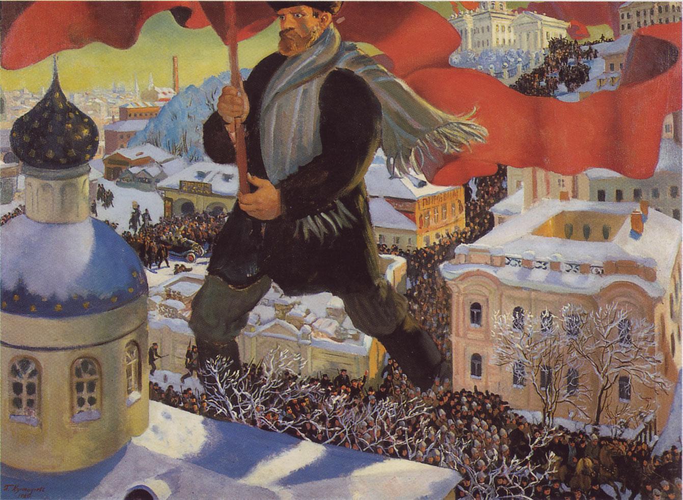 El bolchevique, Boris Kustodiev