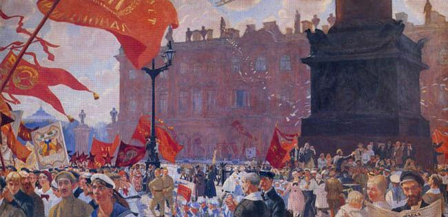 La Tercera Internacional de 1917, Boris Kustodiev, 1921.