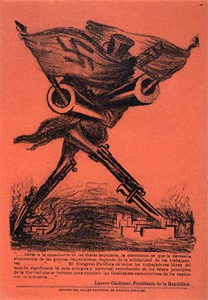 Méndez, L. (1938). El imperialismo y la Guerra, Litografía a dos tintas