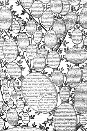 Portada de La Enciclopedia, publicada entre 1751-1752 por D´Alembert y Diderot