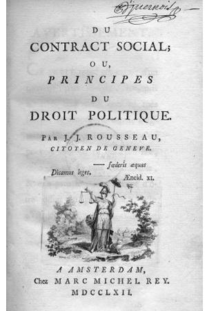 El contrato social o los principios del derecho político, de Rousseau