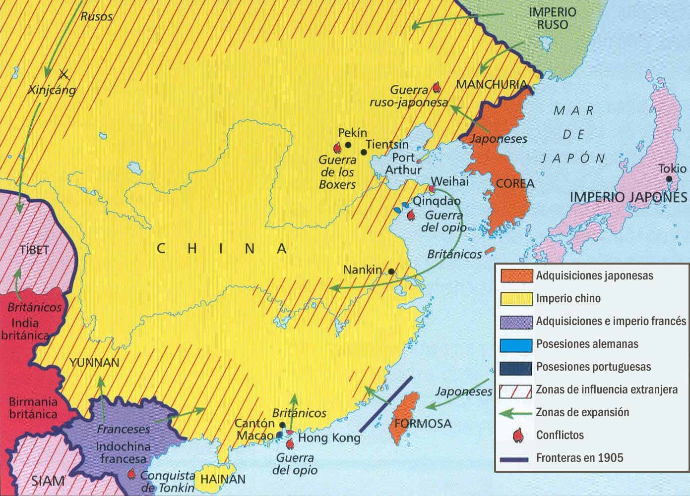 El control político y económico de China
