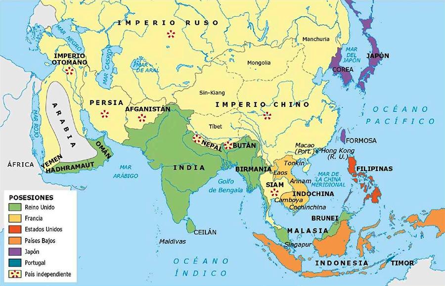 Posesiones imperialistas en Asia
