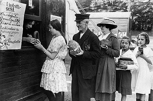 Trueque durante la hiperinflación durante la República de Weimar
