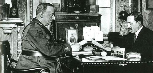 El general Miguel Primo de Rivera y el rey Alfonso XIII