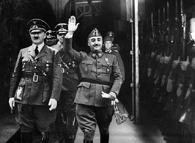 Adolf Hitler y Francisco Franco