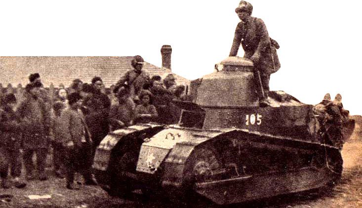 Tanque japonés en Manchuria, 1931