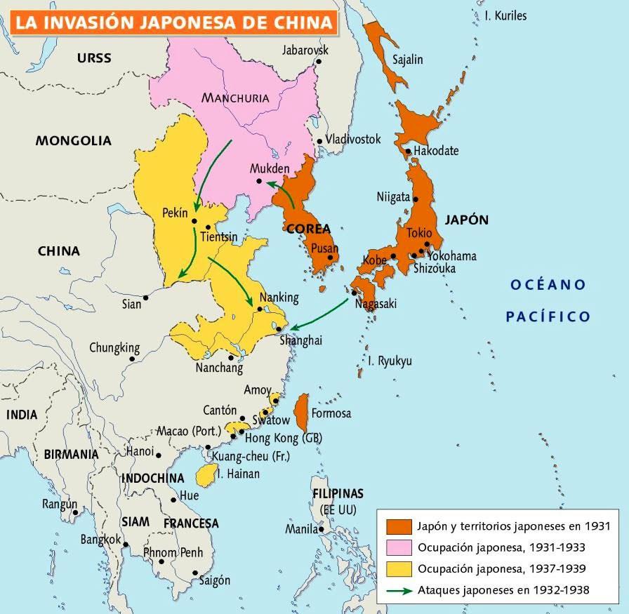 La invasión japonesa de China