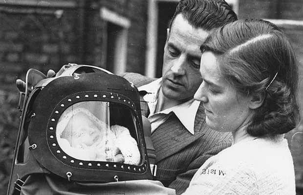 mascara de gas para bebé