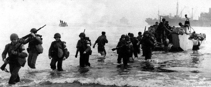 Desembarco de tropas norteamericanas en Normandía