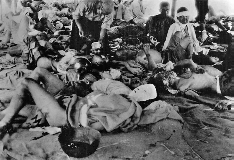 Víctimas de la bomba atómica caída sobre Hiroshima