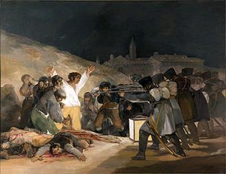 Francisco Goya, El tres de mayo de 1808 en Madrid., 1814.