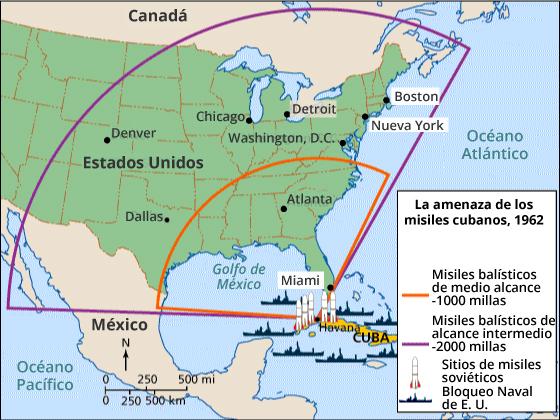 La amenaza de los misiles en Cuba, 1962