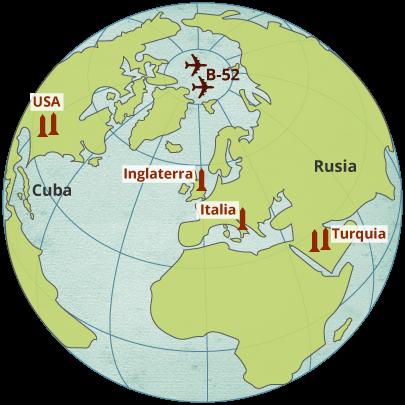 Instalación de misiles en el mundo en el escenario de la Guerra Fría