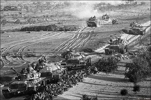 Avance del ejército judío, durante La Guerra de los Seis Días
