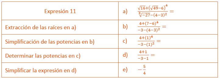 expresión 11