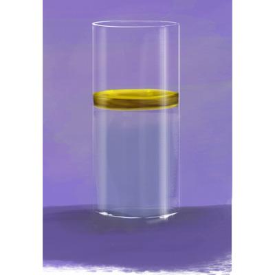 Agua con aceite