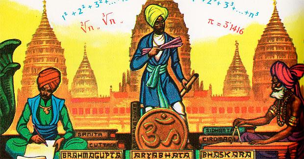 Brahmagupta, Aryabhata y Bhaskara, realizaron grandes aportaciones al desarrollo de las Matemáticas